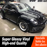 crystal series High Gloss black Glossy Vinyl Wrap For Car Wrap Expected durability: 4 5 years Global sales