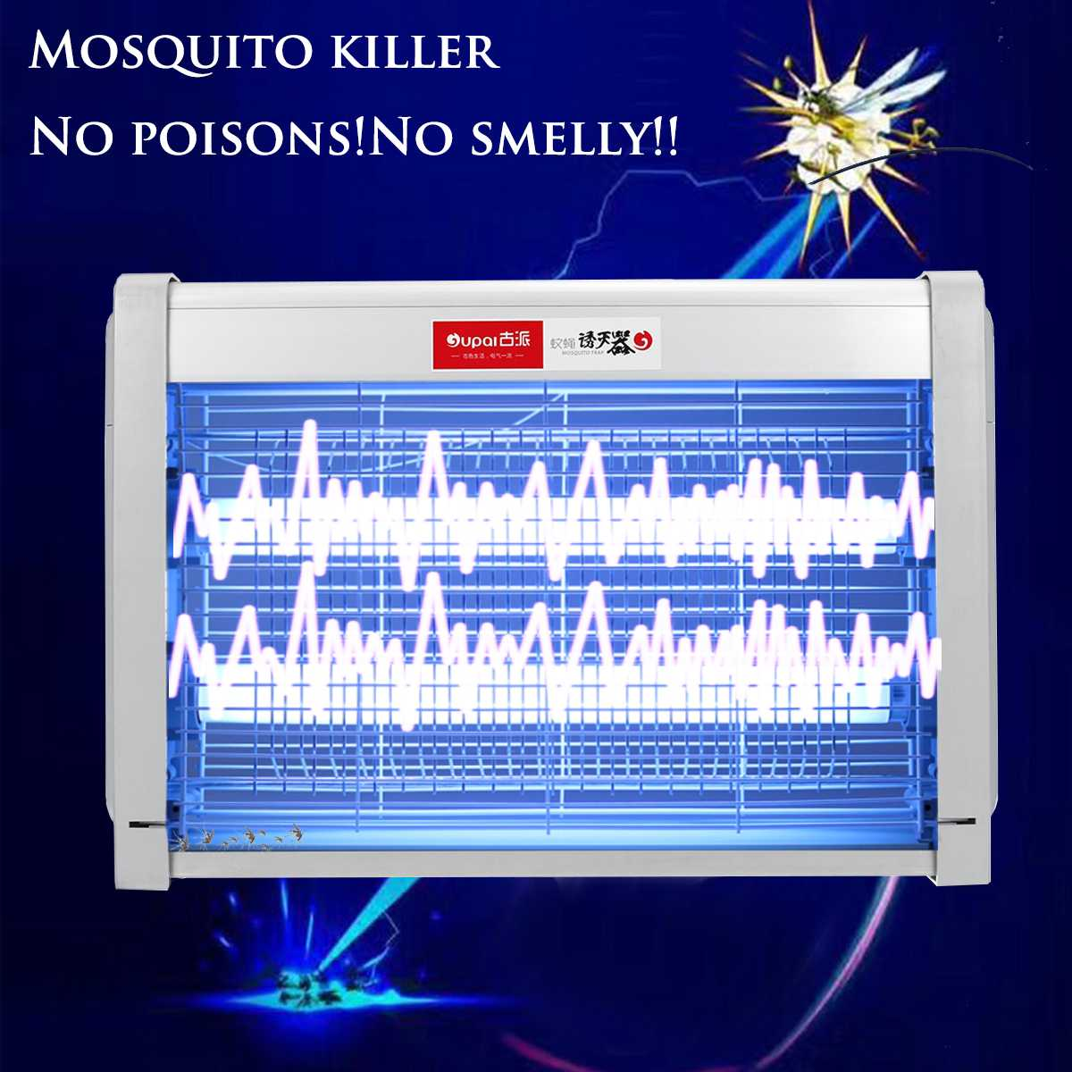 20W 220V Mosquito Killer Lamps LED Light Electronic Killer Trap Light Fly Wasp Bug Insect Zapper Trap Catcher Indoor Room Garden20W 220V Mosquito Killer Lamps LED Light Electronic Killer Trap Light Fly Wasp Bug Insect Zapper Trap Catcher Indoor Room Garden