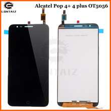 For Alcatel Pop 4+ 4 plus OT5056 5056D 5056T 5056E 5056A 5056 Touch Screen Digitizer Glass LCD Display Assembly alcatel pop 4 plus 5056d blue