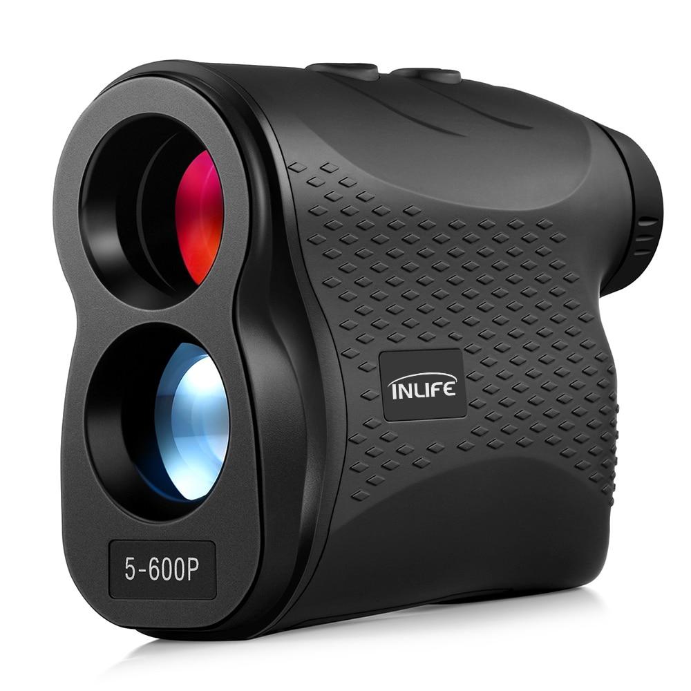 5 600P Digital golf Telescope Laser Rangefinder 600m Laser Distance Meter 6X Monocular Golf hunting Range Finder Speed Tester