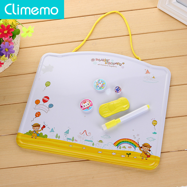 Climemo 1Pcs Small Whiteboard Magnet Whiteboard Wall Fixing For Kids Child Kindergarten 31.5*26cm Np224