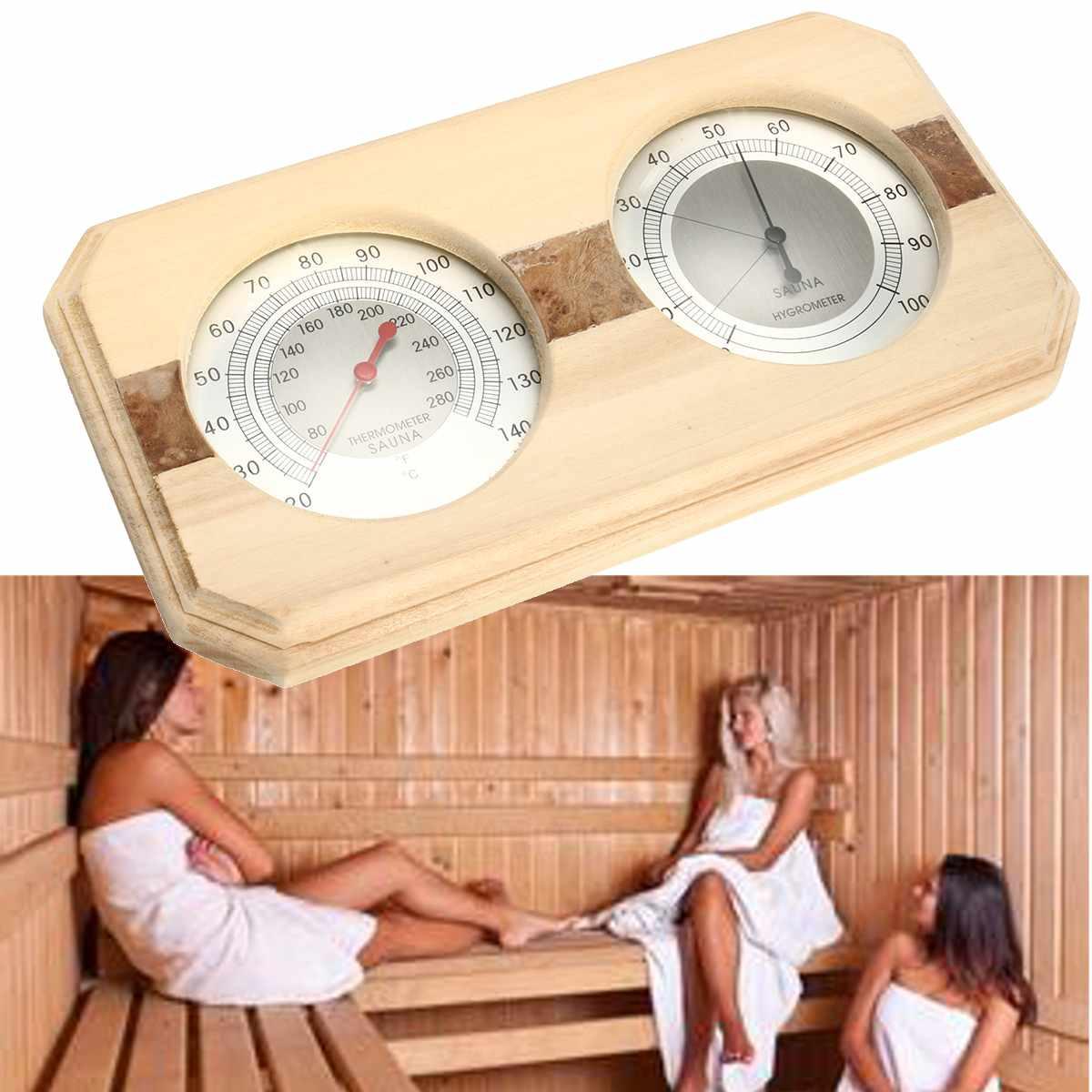 2 In 1 Sauna Room Wood Thermometer Hygrometer Steam Sauna Room Thermometure Instrument Humidity Meter Bath And Sauna Indoor Use2 In 1 Sauna Room Wood Thermometer Hygrometer Steam Sauna Room Thermometure Instrument Humidity Meter Bath And Sauna Indoor Use