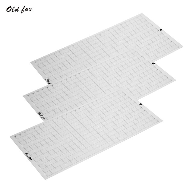 3pcs Replacement Cutting Mat Transparent Adhesive Mat with Measuring Grid 12 * 24 Inch for Silhouette Cameo Cricut Explore