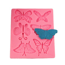 6pcs Butterfly 3D Clay Mold Designer Diy Wall Panel Molds for Plaster Polymer Clay Molds пластилин polymer clay aoyu 24 24 3d