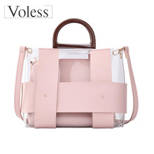 Large Capacity Transparent Totes 2019 High Quality Women Summer PVC Handbags Bag Over Shoulder Beach Sac A Main
