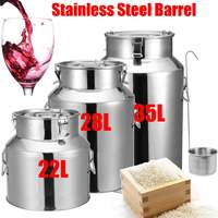 22/28/35L Stainless Steel Barrel Seal Beer Brewing Wine Beer Whiskey Rum Barrel Port container Storage Oil Milk Rice Barrel