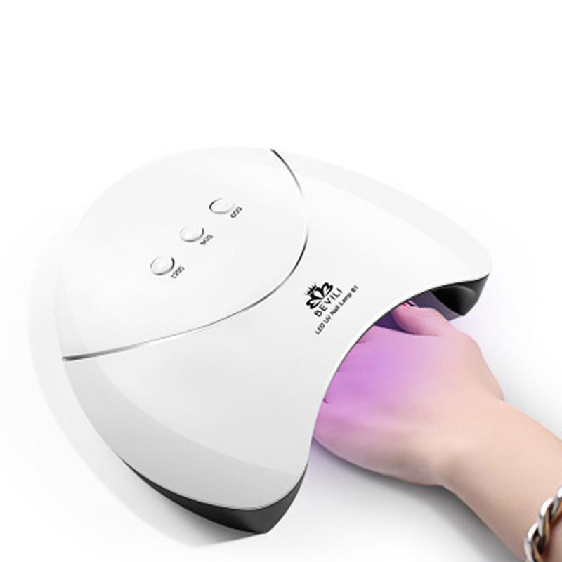 36W LED UV GEL Nail Dryer Curing Lamp With 60s/90s/120s Timer Setting All Gel Portable Polish Manicure Machine
