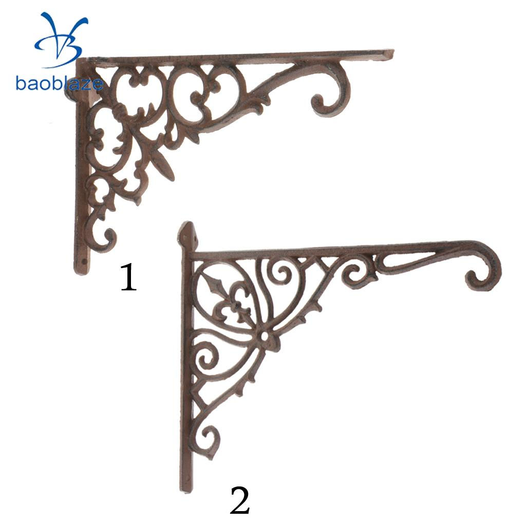Antique Cast Iron Heavy Duty Metal Shelf Brackets Wall Mounted Support Display Holder Home Decor Полка