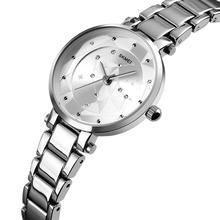 Skmei Fashionable Zinc Alloy Quartz Round Watch Women Star Rhinestone-studded Watch 2019 New Arrival все цены