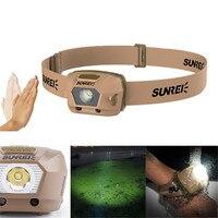SUNREX iFishing Li LED Smart Sensor Headlamp XPG3 S3 1800mAh Rechargeable 4 Modes Headlight Outdoor Fishing Hiking Headlamp