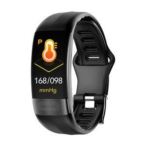 Image 5 - P11 Smartband kan basıncı bandı nabız monitörü PPG ekg akıllı bilezik aktivite spor izci elektroniği bileklik