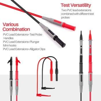 1000V 10A Elektronik Test Kurşun Kiti Timsah Klipleri Test Uzatma Dijital Multimetre Metre Pin Evrensel Probe Tel Kablo
