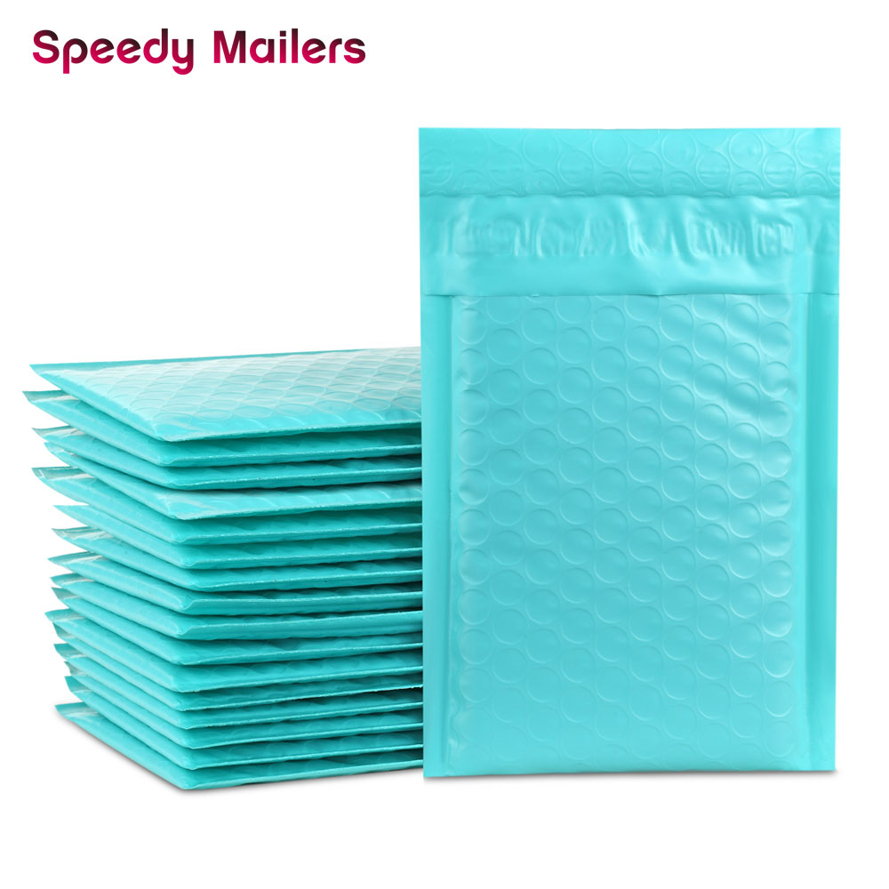 10PCS 4x7/inch 12x18cm Teal Green Poly Bubble Mailers Padded Envelopes Self Seal Envelope Bubble Envelope Shipping Envelopes