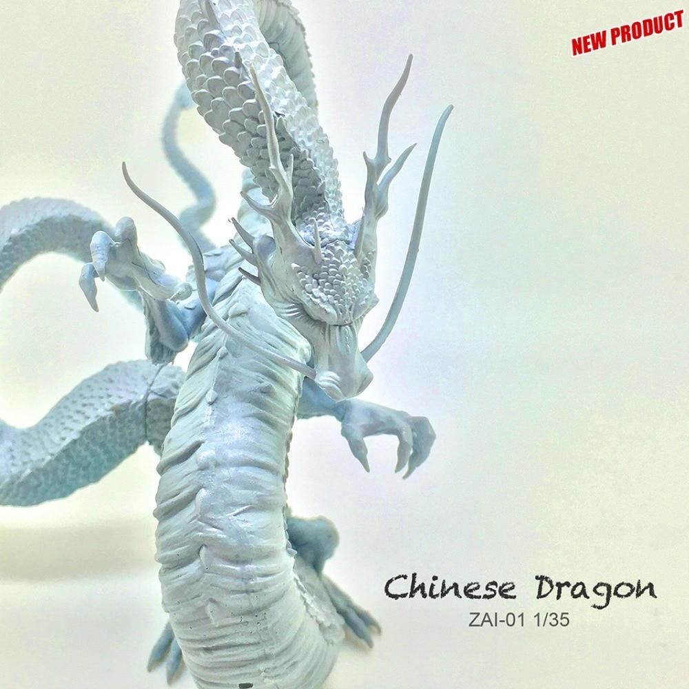 90mm Resin Figures Chinese Dragon Model Kit  ZAI-01