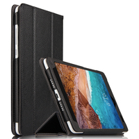 High Quality Case For Xiaomi Mi pad 4 Genuine Leather Protector Cover For Xiaomi Mipad 4 8.0 inch Tablet Shell + Stylus