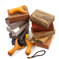 EDC Handmade wood block raw materials DIY knife slingshot handle wood 14x9x4cm 1 piece