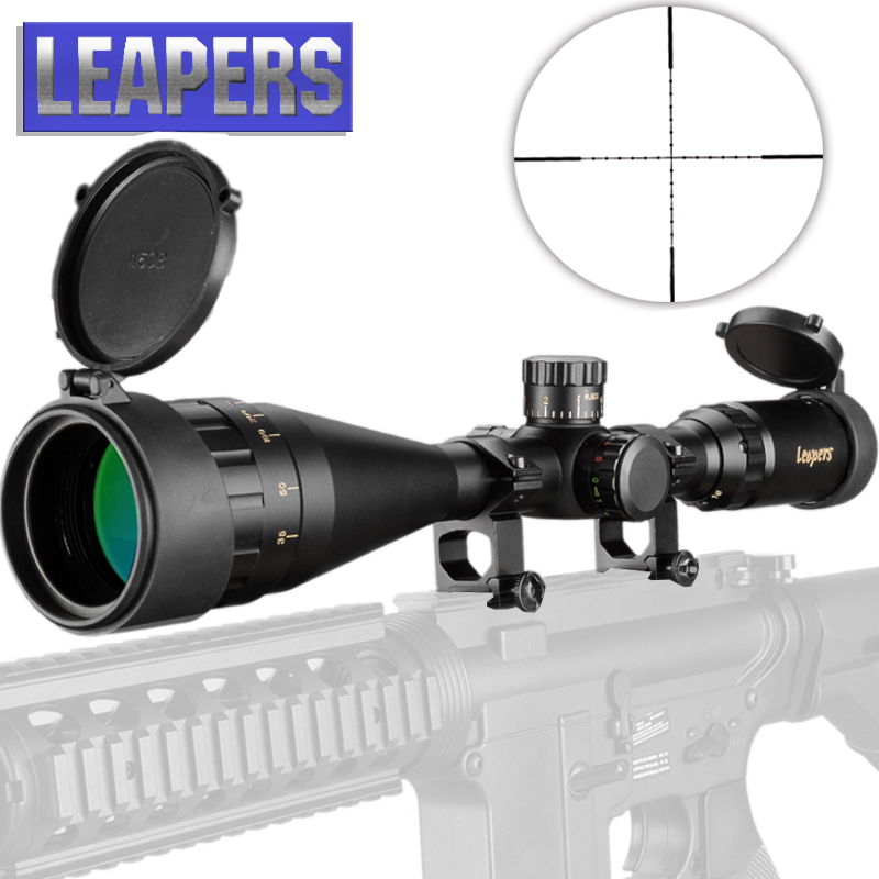 LEAPERS 4 16X50 Riflescope Tactical Optical Rifle Scope Red Green Blue Dot Sight Illuminated Retical Sight For Hunting Scope-in Riflescopes from Sports & Entertainment