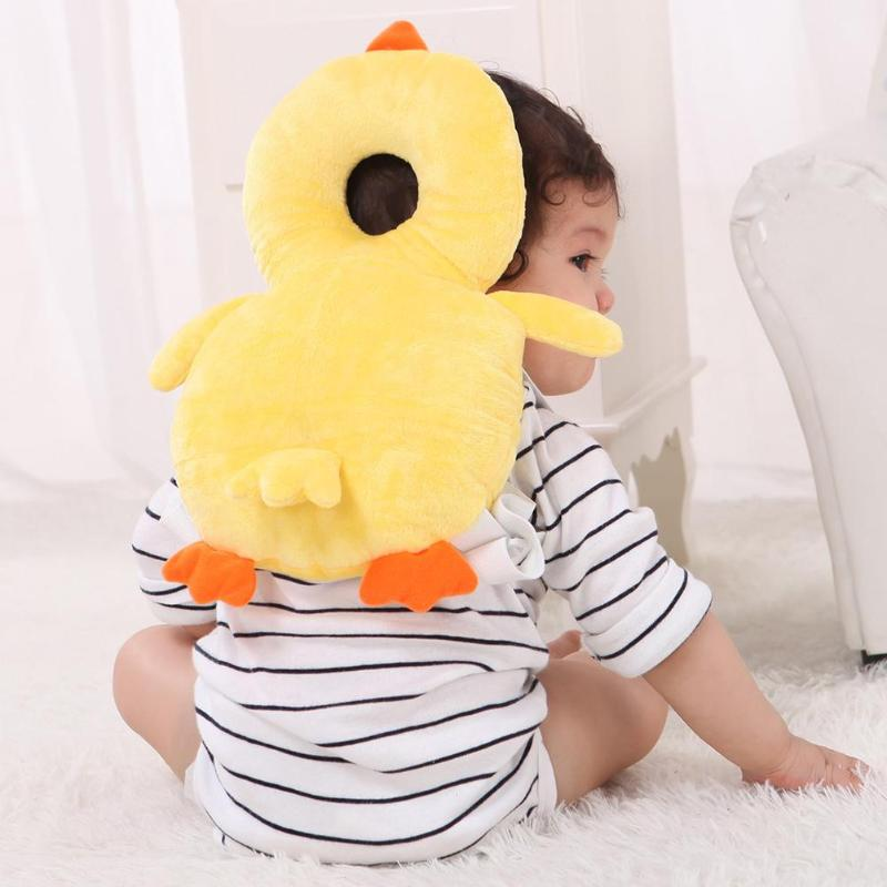 Baby Pillow Newborn Baby Head Protector Pillow Toddlers Headrest Neck Safe Pad Backpack Cushion Anti Roll Baby Bedding Mat