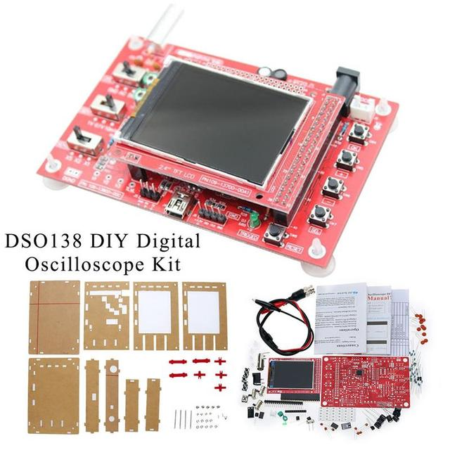 DSO138 Open Source 2.4 TFT 1Msps Digital Oscilloscope DIY Kit Probe Unsoldered Flux Workshop STM32 200Khz