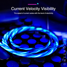 Summerfish 3A LED Glow Flowing Data USB Charger Micro Charging Cable For Huawei Honor Samsung Xiaomi Mi oppo vivo fast cable
