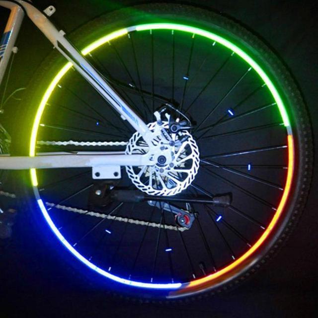 26 Inch Bike Stickers Decals Self-sticking Reflective Stickers Strip Bicycle Reflective Tape Sticker