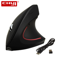 CHYI Wireless Vertical Mouse Ergonomics Computer Gaming Mice 800/1200/1600 DPI Optical Rechargeable Mause for Laptop PC Gamer|mouse sem fio|mouse sem|sem fio -