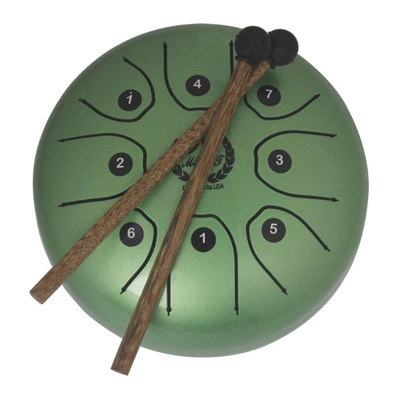 5.5 Pouces En Acier Inoxydable Tongue Drum Set Main Casserole Réservoir Accrocher Tambour Instruments de Percussion avec Pilons Sac Rembourré