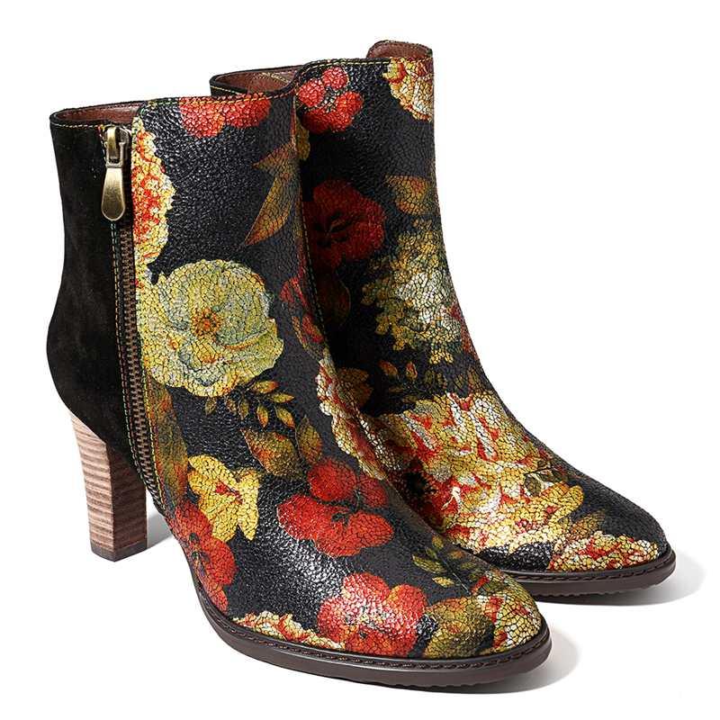 Épissage Socofy Femmes Vintage Haute D'hiver Chaussures JFKcl1