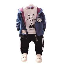 패션 어린이 목화 의류 정장 아기 소년 소녀 후드 티셔츠 바지 3 개/대 봄 가을 어린이 스포츠 의류 Tracksuit