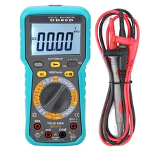 цена на 6000 Counts Digital Multimeter ACV/DCV Electric Hand-Held Tester Meter LCD Multimeter Electrical instrument HD80D plastic