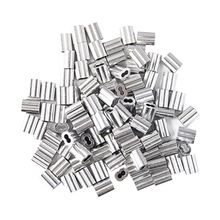 120x Aluminum Crimping Loop Sleeve for 2mm Diameter Wire Rope and Cable цена