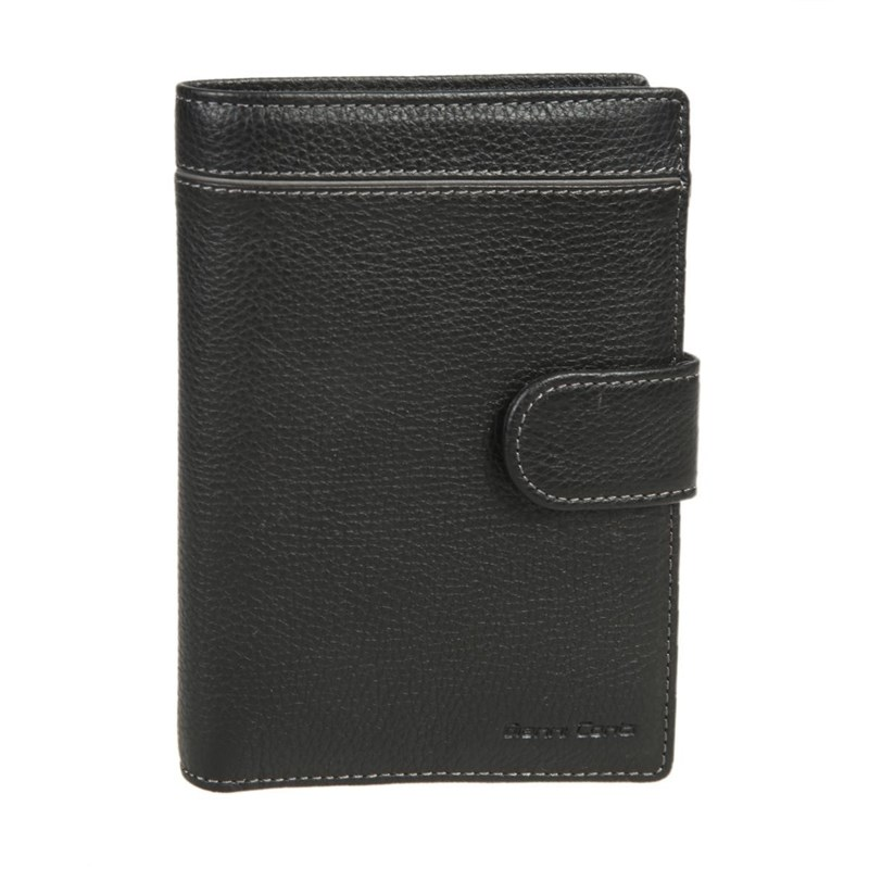 Coin Purse with cover for passport Gianni Conti 1818457 black new vintage men s genuine leather wallet money clip purse brand passport wallet large capacity wallets for men coin card purse