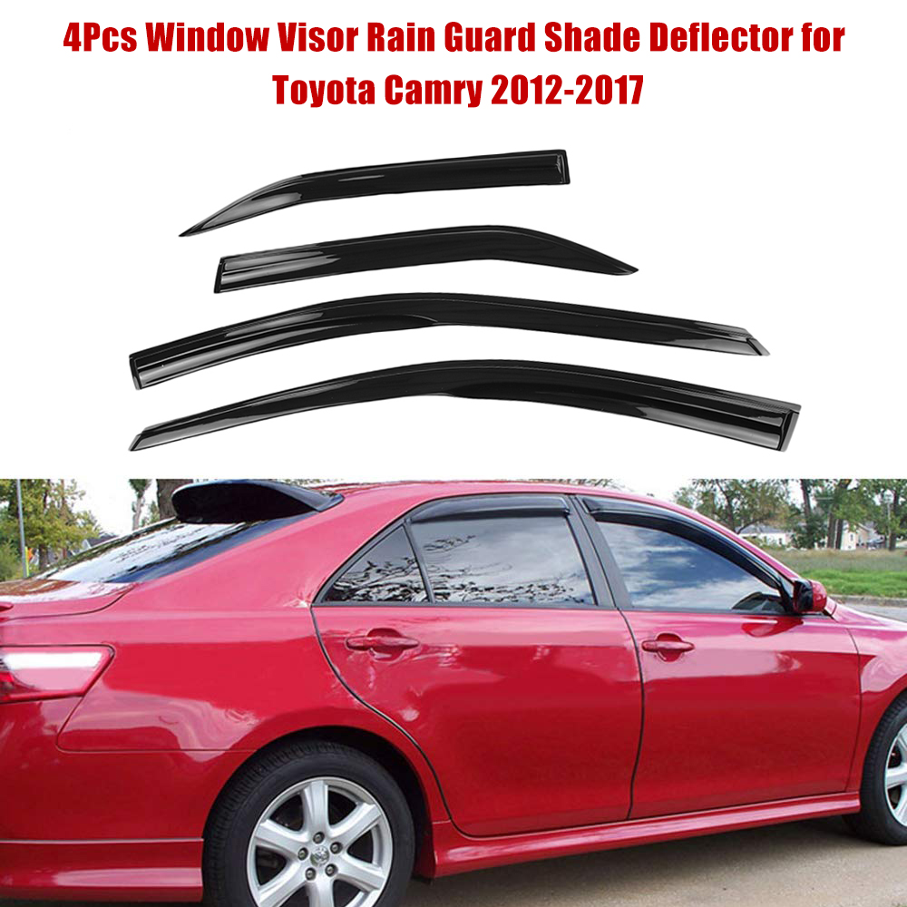 4Pcs Window Visor Rain Guard Shade Deflector for Toyota Camry 2012 2017 Auto Accessories