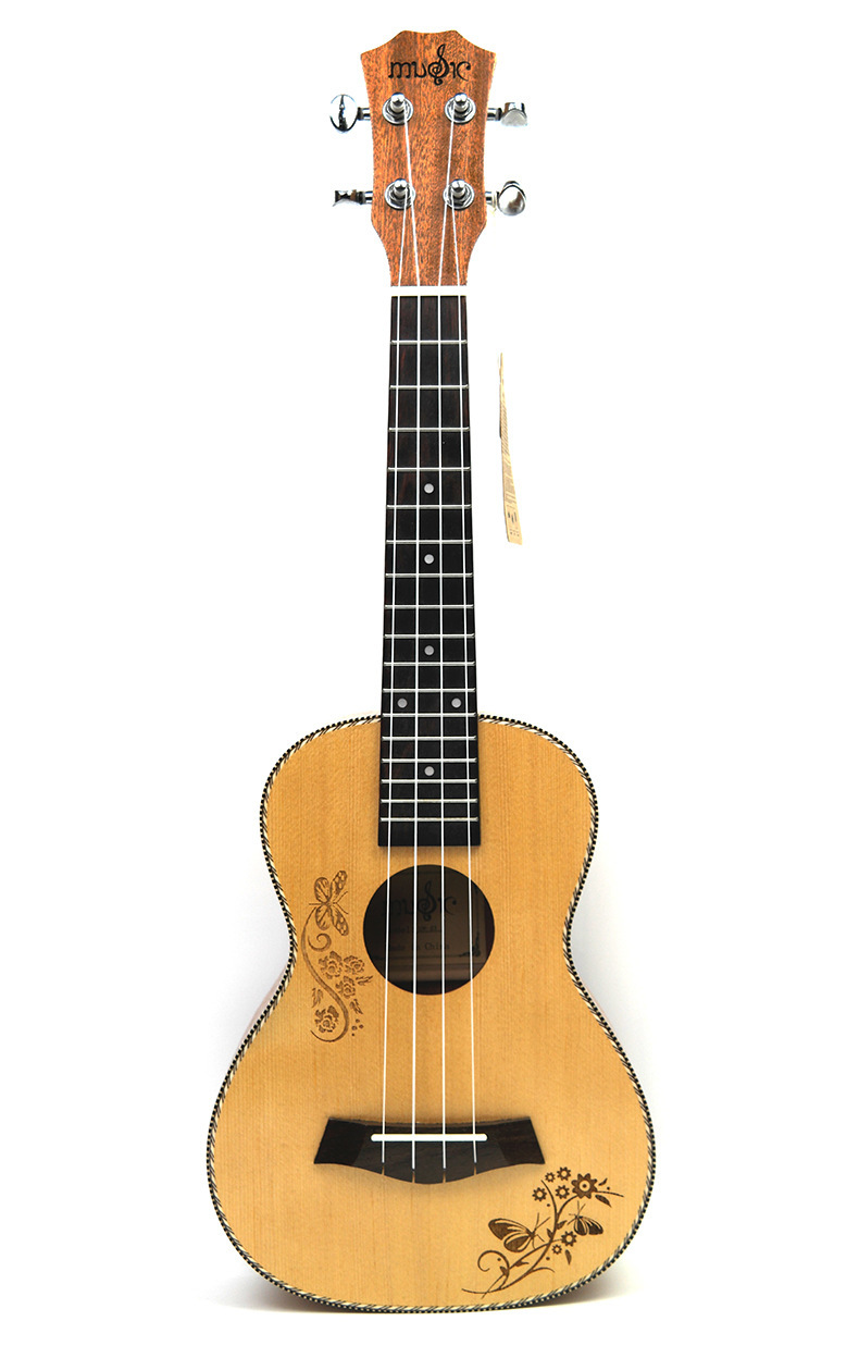 26 Inch Ukulele Small Guitar Spruce Wood Butterfly Love Flower Supplies26 Inch Ukulele Small Guitar Spruce Wood Butterfly Love Flower Supplies
