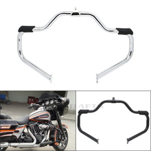 2009 2017 Rubber Highway Crash Bar Engine Guard For Harley Touring Electra Street Glide Road King CVO Ultra FLHT FLHX FLHR FLTR