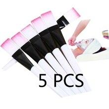 AMSIC 5 шт. розовая косметическая маска для макияжа Кисти косметические кисти инструмент синтетические волосы маска для лица аппликатор кисти