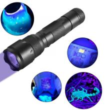 LED UV Ultra Violet Blacklight Flashlight Torch Light Lamp for Fluorescence Detection led flashlight
