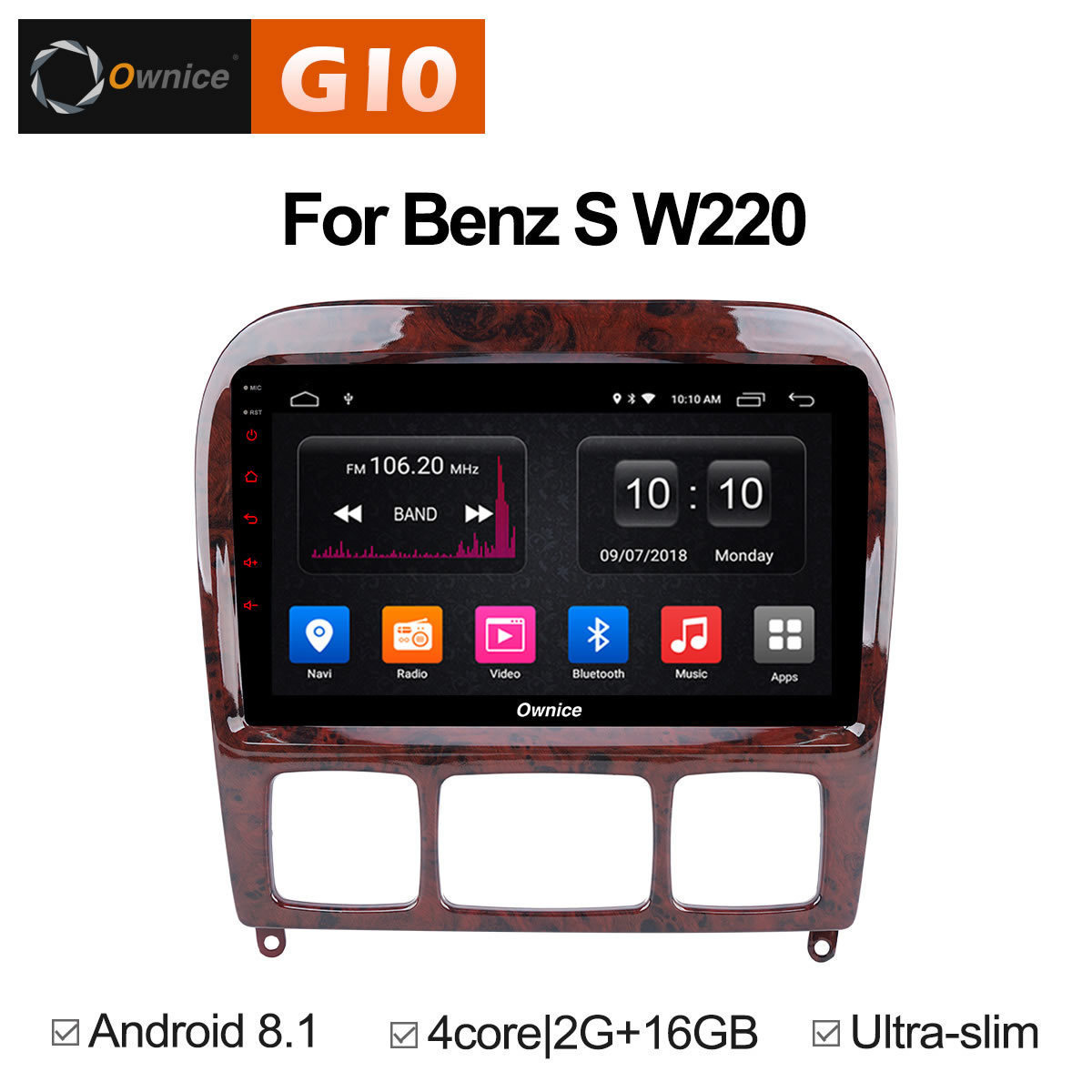 Per Mercedes/Benz/S280/S320/S350/S400/S500/W220/W215/C classe S Veicolo Multimediale Android auto Lettore 2 din DVD GPS Radio Stereo