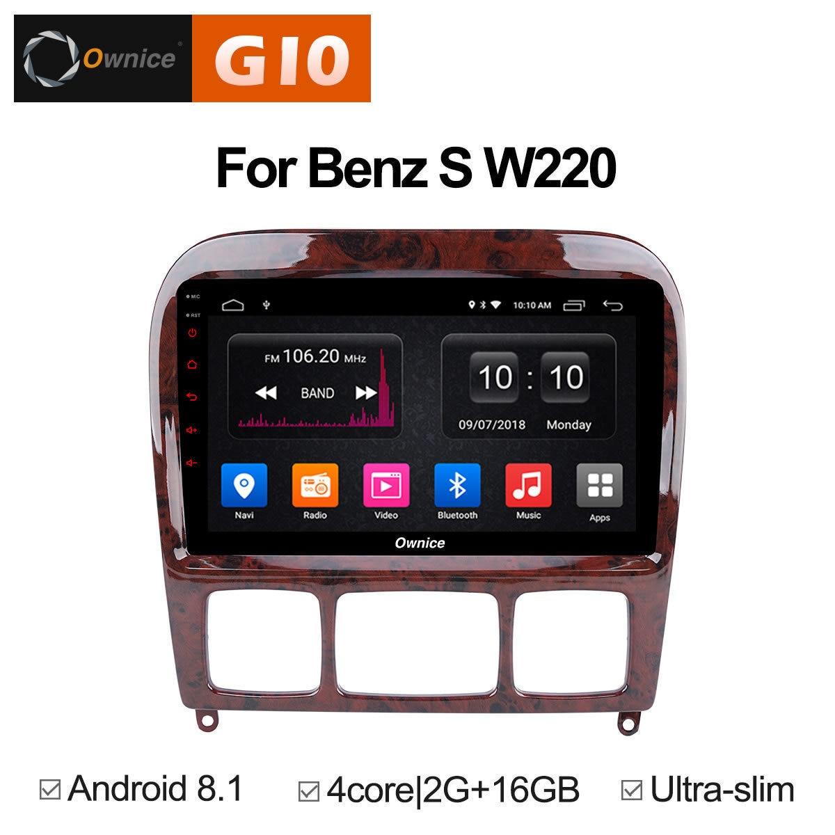 Pour Mercedes/Benz/S280/S320/S350/S400/S500/W220/W215/C S Classe Véhicule Multimédia Android auto 2 din DVD Radio GPS Stéréo Lecteur