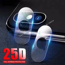 2PC HD Full Cover Back Camera Lens Tempered Glass For iPhone XS Max XR X 6 6s 7 8 Plus 25D Protective Screen Protector Glas Film стоимость