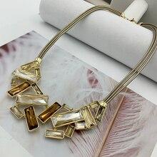 Высокое качество, ожерелье с подвеской из чистого хрусталя, большие размеры, стразы, колье, массивный роскошный воротник, массивное ожерелье для женщин