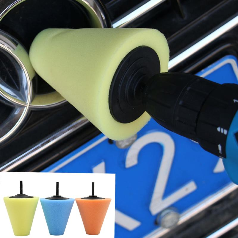 1pc 3 Inch Auto Car Polishing Pad Cone-Shaped Sponge Foam Pad Polishing Wax Tool For Car Care Accessories Styling