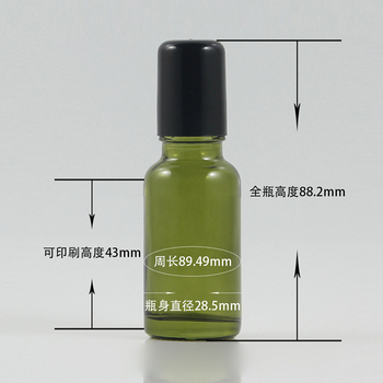 Luxury 20ml e-liquid cosmetic packaging perfume glass bottle with roller, 20ml glass vials wholesale