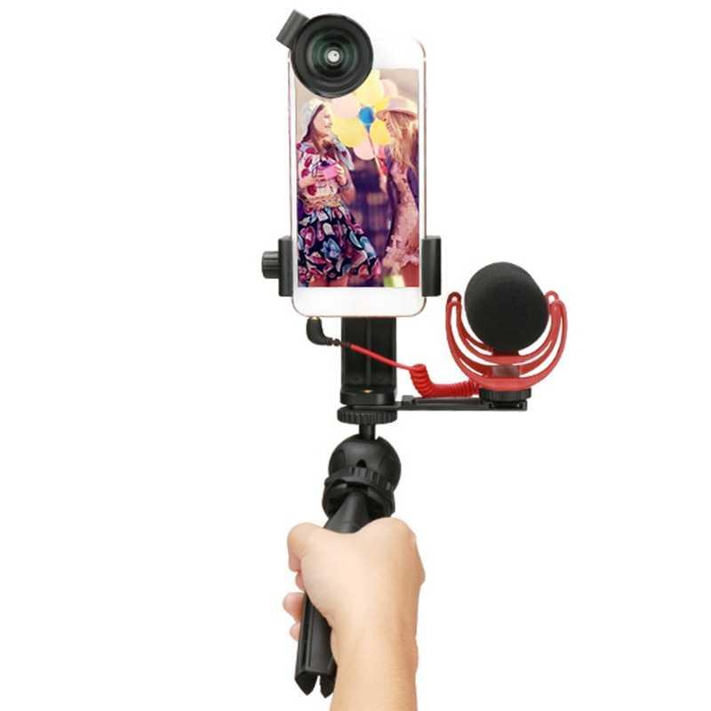 Ulanzi держатель для телефона видео штатив Гибкий вертикальный кронштейн крепление Горячий башмак настольная подставка для Iphone Youtube Live потоковая Vloggin