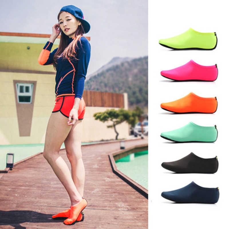 UPUPER letnie buty damskie sportów wodnych buty plażowe sandały damskie 2019 Slip-On Surfing sandały kapcie dla kobiet sandały