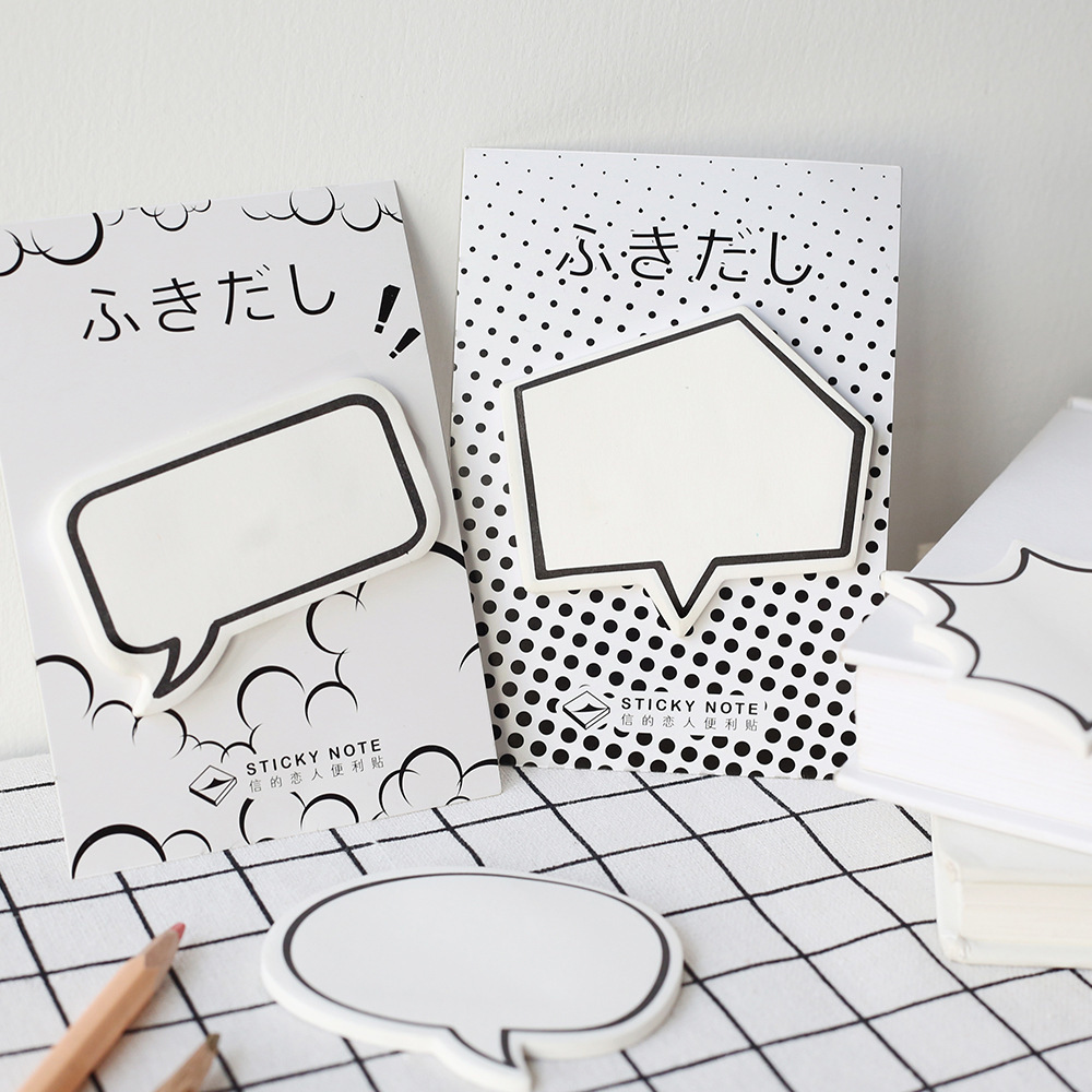 SIXONE Leave A Message Remember Sticky Note Student Creative Memo Pad Originality Japanese Lovely Bubble Dialog Box
