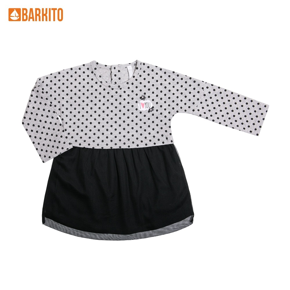 Dresses Barkito 339025 children clothing Cotton Gray Casual 2T31A-30300KOR