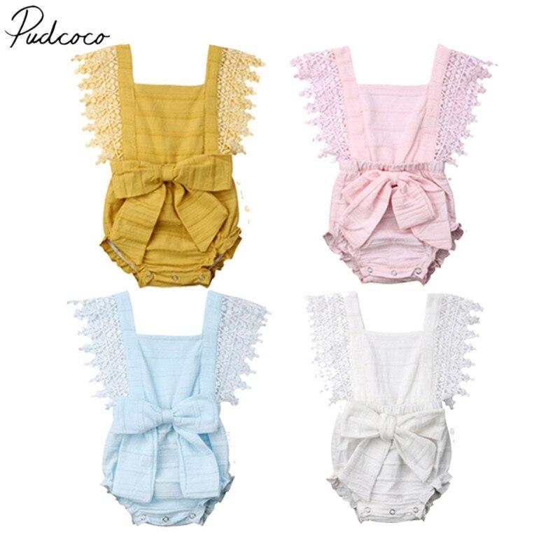 e131e4402128d 2019 Brand New 0-18M Newborn Toddler Baby Girls Boys 100% Cotton Belt  Bodysuits