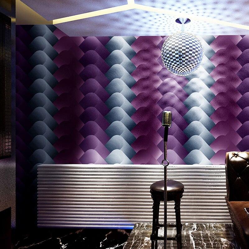Papier peint en trois dimensions 3d Ktv personnalité clignotant papier peint Bar hôtel fantaisie salle de bal thème chambre papier peint