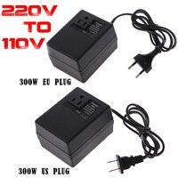 300 Вт/200 Вт 220 В до 110 В AC шаг подпушка путешествия напряжение трансформатор конвертер ЕС Plug адаптер